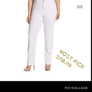 👖Style & Co Women's Plus JEANS STRAIGHT WHITE 24W